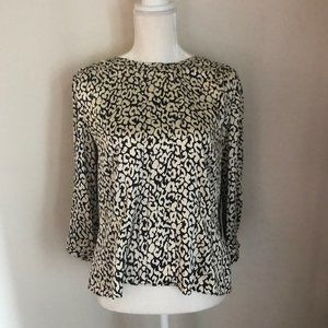 J. Crew Leopard Print Silk Blouse